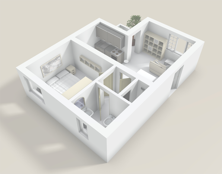 3d Interieur Inrichten : Gratis 3d roomplanner guest houses and house