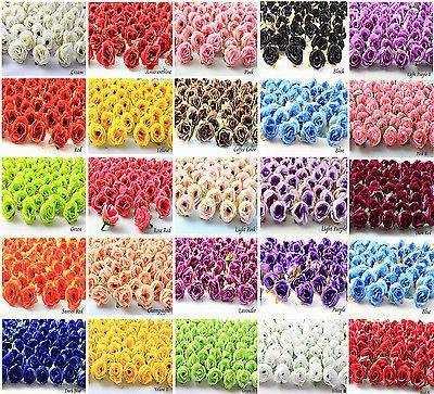 50 100 500Pcs Roses Artificial Silk Flower Heads Wholesale Lots Wedding decor