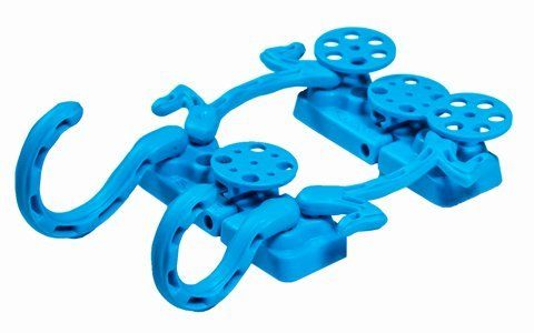 Zeepers Magnets with FREE Phone Holder Neon Blue