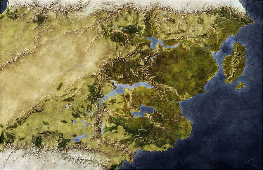 The fantasy world map of saemyyr fantasy map rpg and concept art the world of smyyr gumiabroncs Images