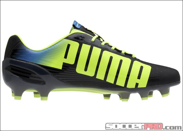 9e982465d69 Puma evoSPEED 1.2 FG Soccer Cleats - Black with Fluo Yellow... 166.49