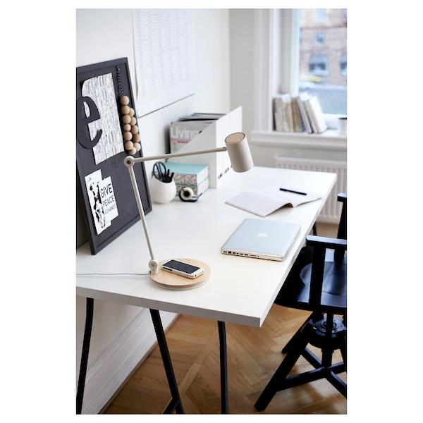Riggad Lampe Bureau Led Stat Chrgt S Fil Blanc Ikea Suisse Arbeitsleuchte Ikea Led