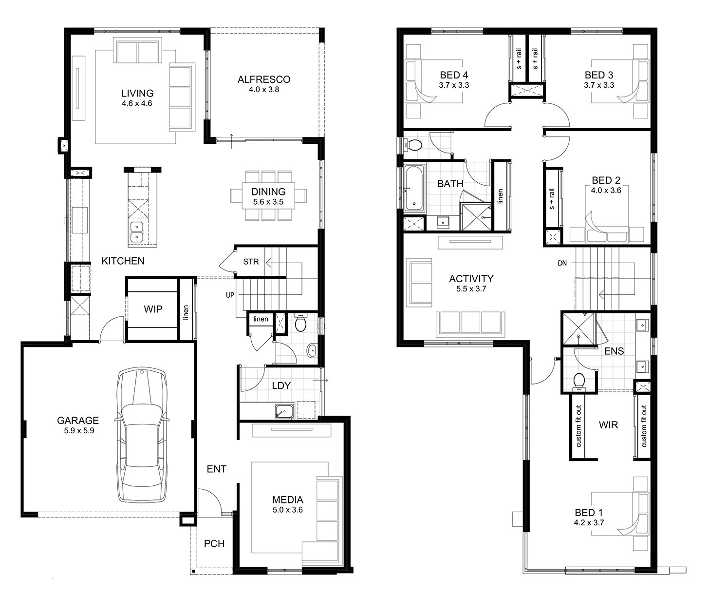 Home Designs Perth | apg Homes | House layouts, 4 bedroom ...