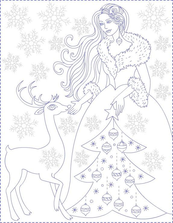 Nicoles Free Coloring Pages Winter Princess
