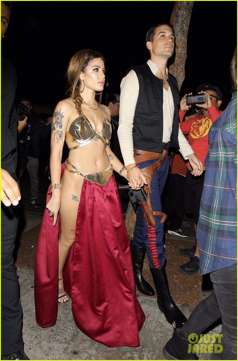 G Eazy Halloween Party 2020 halsey and g eazy channel princess leia and han solo for kendall