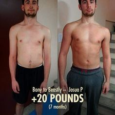Josua S 20 Pound Skinny Guy Transformation