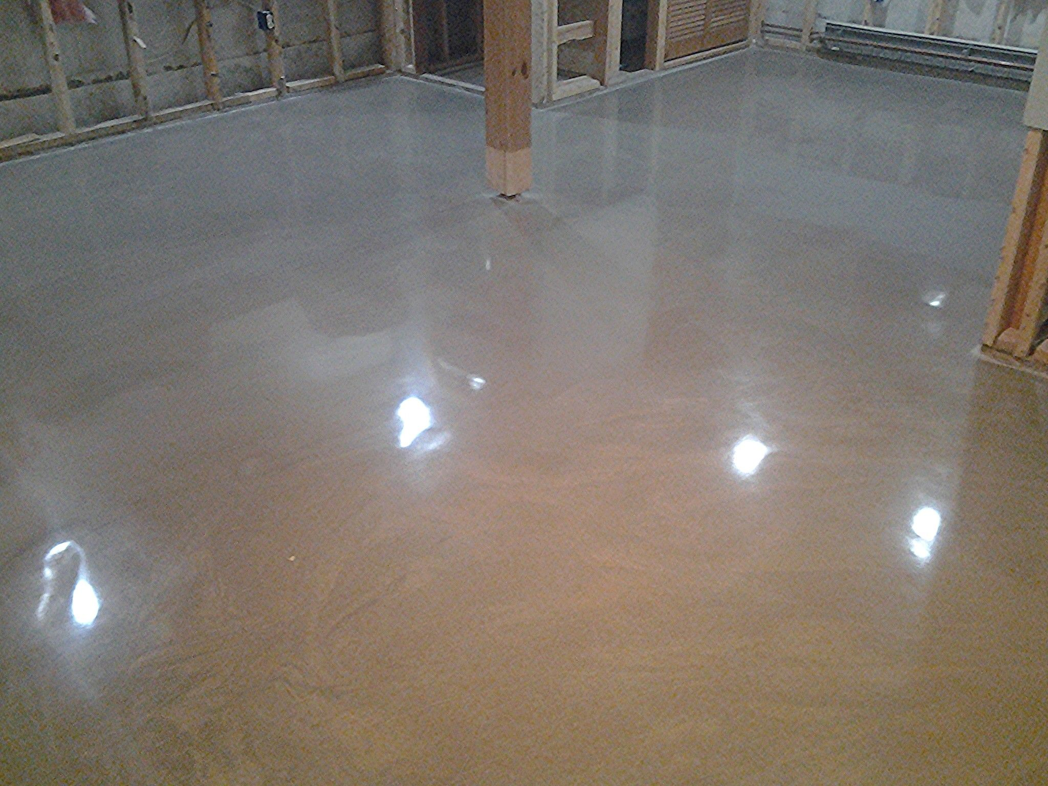 Self Leveling Concrete Color : Here is a colored rapid set tru self leveling polished