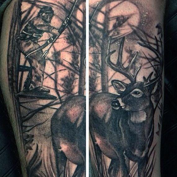 70 hunting tattoos for men skills of war in times of peace tattoo rh pinterest com Pig Tattoo Designs Pig Tattoo Designs