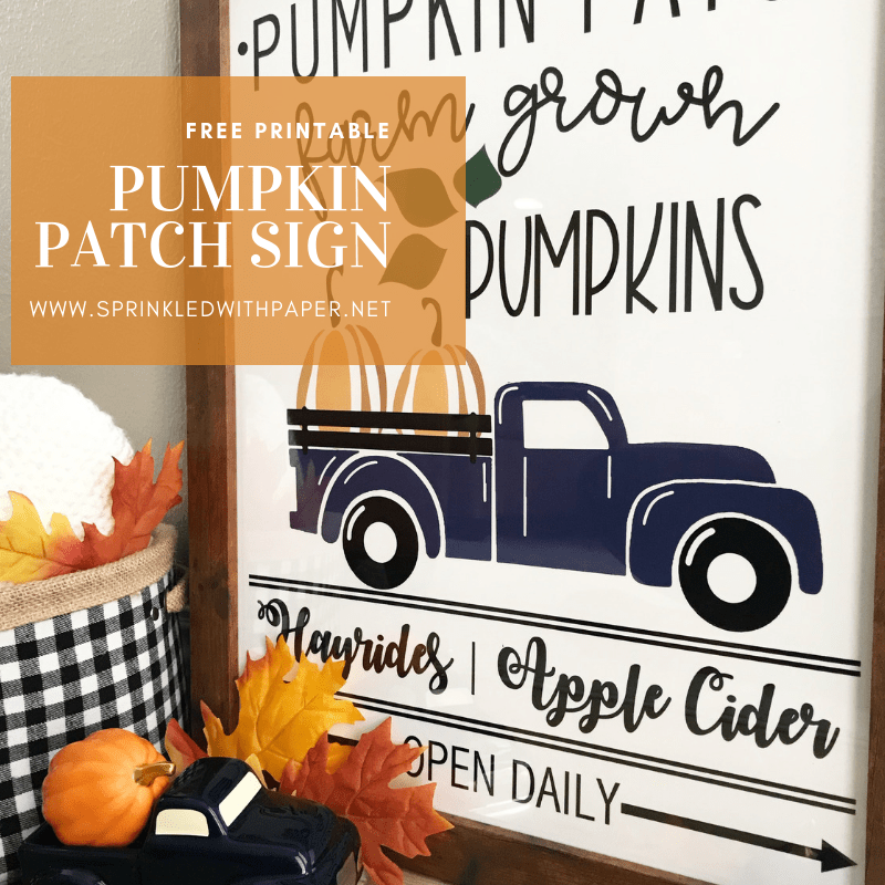 Pumpkin Patch Sign Free Printable Sprinkled With Paper Pumpkin Patch Sign Pumpkin Printable Free Fall Printables