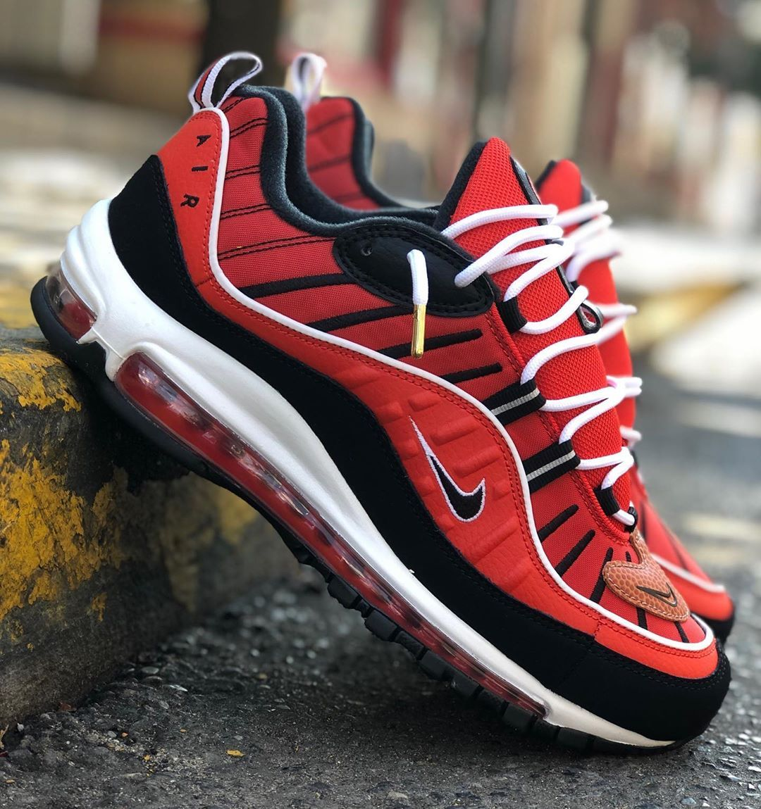 NIKE AIR MAX 98 AOP 'BLACKWHITE' $80.00 | Sneaker Steal