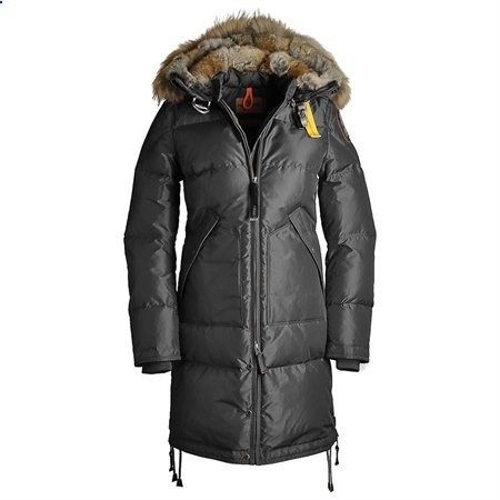 Parajumpers Womens Long Bear Down Jacket Asphalt Extra Large - Rakuten.com