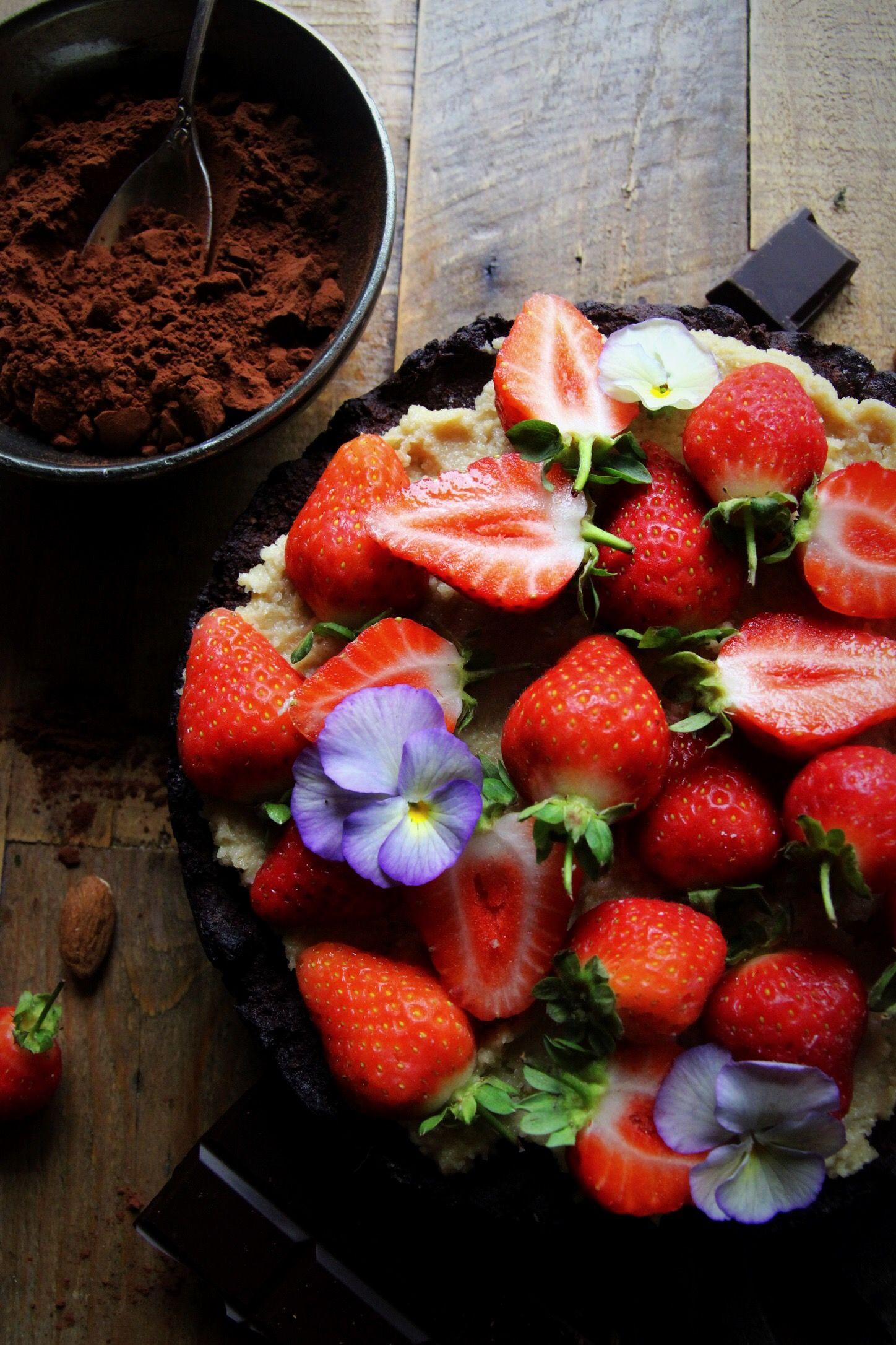 Flourless Chocolate, Almond and Chestnut Brownie Cake (Vegan & Gluten Free)