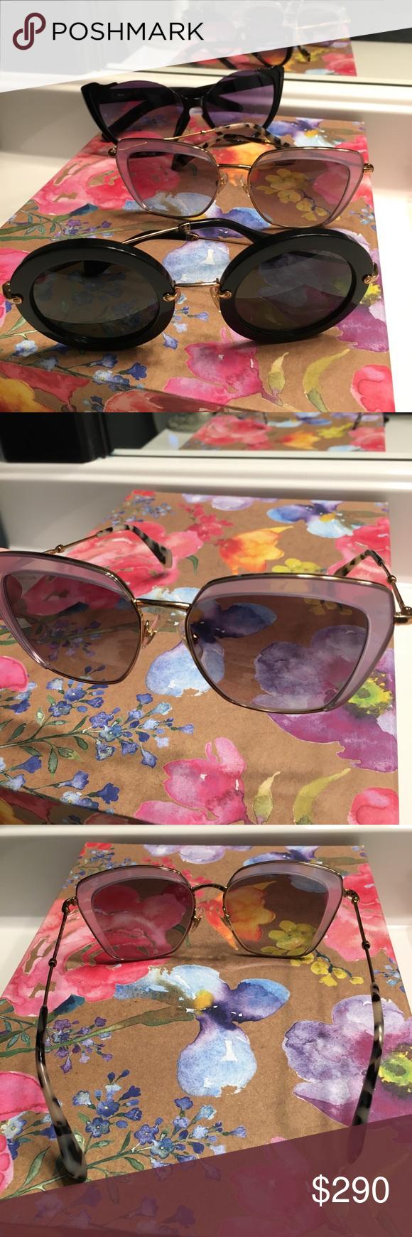 6db62eaab749 3 Pairs of Authentic MIU MIU sunglasses Three beautiful pairs of authentic Miu  Miu glasses.