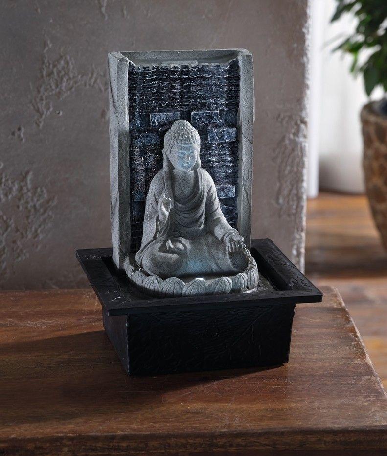 led brunnen buddha jetzt f r 25 80 kaufen im frank flechtwaren und deko online shop. Black Bedroom Furniture Sets. Home Design Ideas