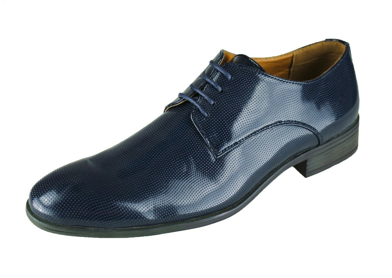 Scarpe uomo Diamond Class blu scuro lucide mans shoes