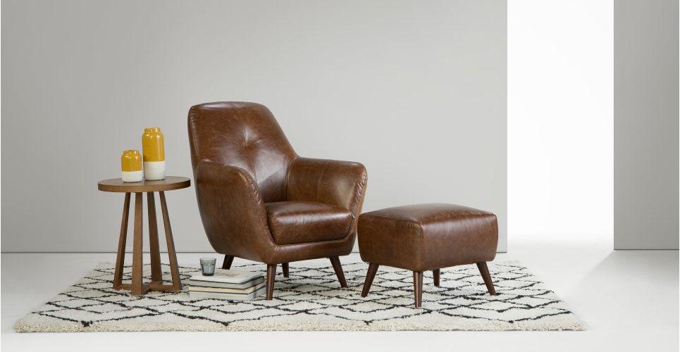 Best Prado Accent Armchair Antique Cognac Leather Avec Images 400 x 300