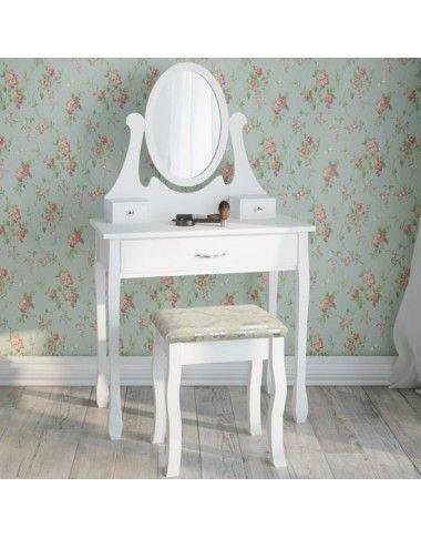 Toaletný stolík so zrkadlom a taburetom Beatrice v 2 FARBÁCH