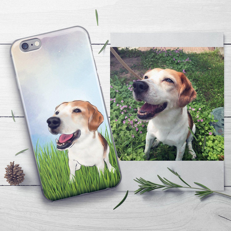 Custom Dog Phone Case Beagle Phone Case Pet Lover Gift Custom Pet Phone Case Samsung Case Embossed Phone Case Iphone Pet Portrait Pet Loss Gifts For Pet Lovers Dog Phone Pet Loss