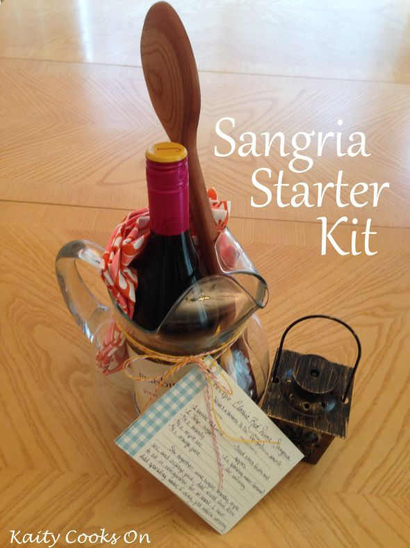 sangria starter kit bridal shower or hostess gift
