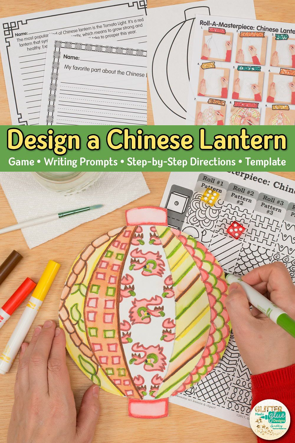 Chinese New Year Lantern Game Art Games For Kids Art Lessons