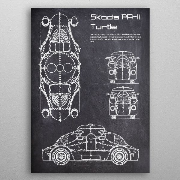 Skoda PAII Turtle by FARKI15 DESIGN | metal posters - Displate | Displate thumbnail