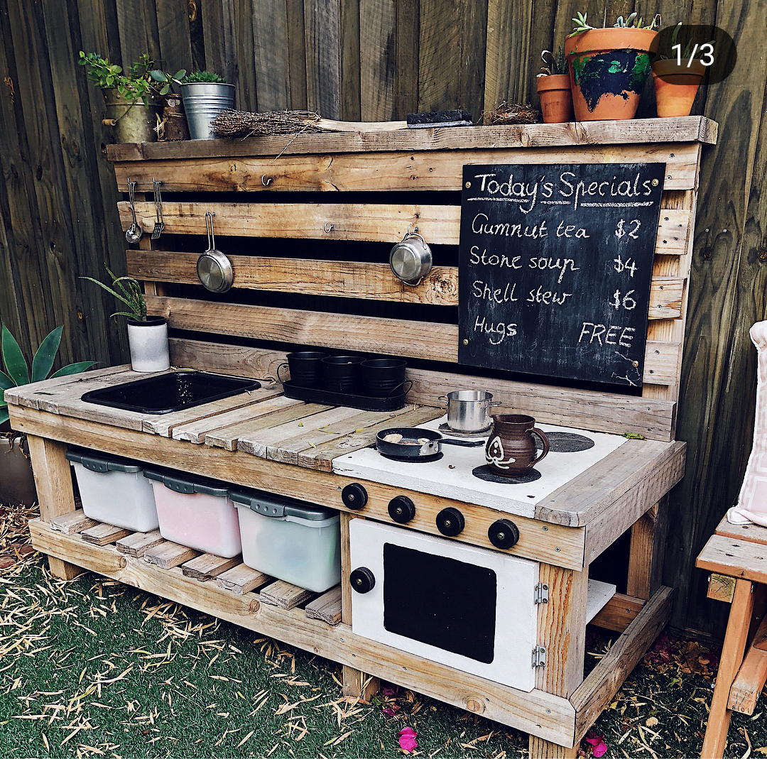 Garden Of Our Dreams Mark Making Matters Fine Motor Skills Messy Play Outdoors Gardening Mud Outdoor Play Kitchen Mud Kitchen For Kids Mud Kitchen