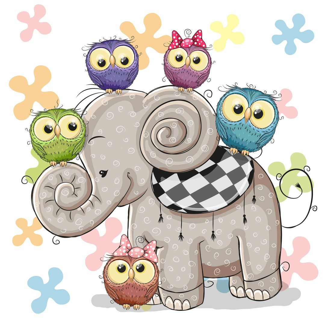 Buhitos Y Elefante Tazones Pinterest Owl Cartoon Elephant