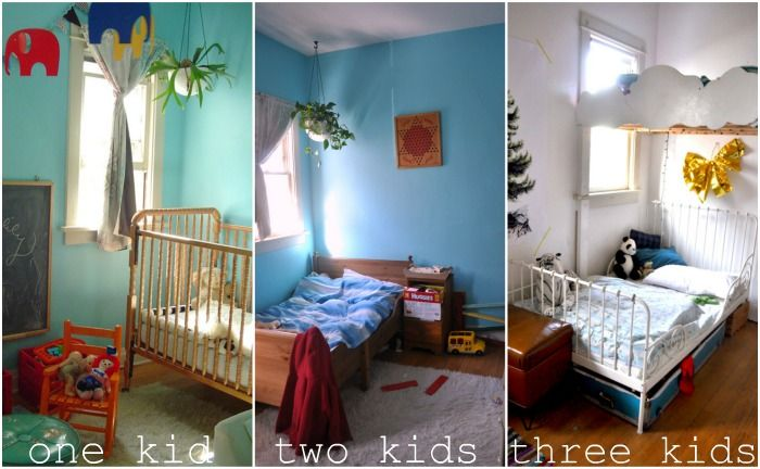 How To Fit Three Kids In A Small Room Kid Room Decor Small Kids Bedroom Kids Bedroom