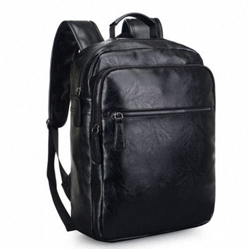 ffe8e47c4d RETRO Men Vintage Faux Leather Laptop Backpack School College Notebook  Rucksack