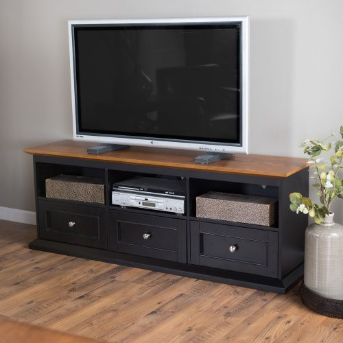 Belham Living Hampton Tv Stand With Drawers Black Oak Tv