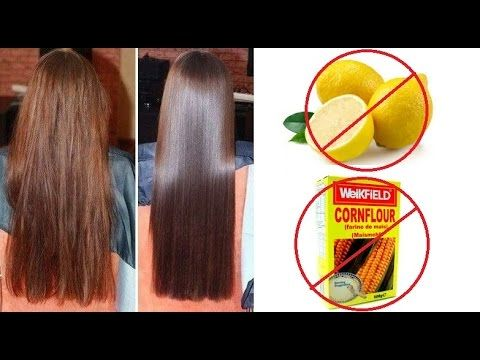 Permanent Hair Straightening at home Without Lemon and Corn flour