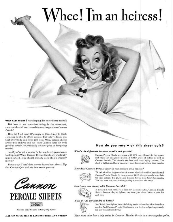 f754d9cae807d A lot of excitement over sheets. | Vintage Ads | Teaching history ...