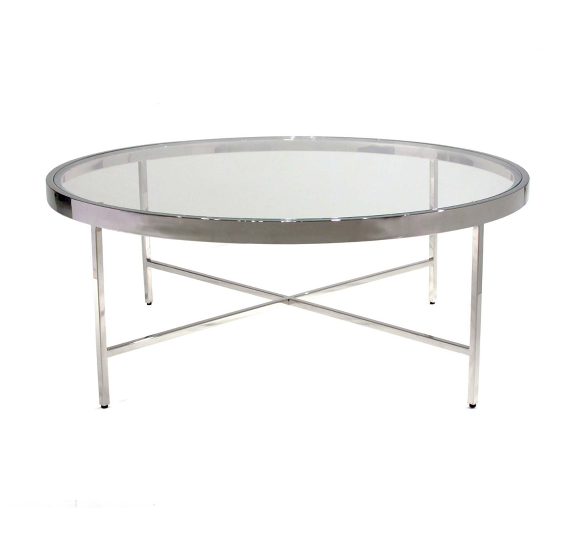 VIENNA ROUND COCKTAIL TABLE In Width X In Depth X In - Coffee table depth