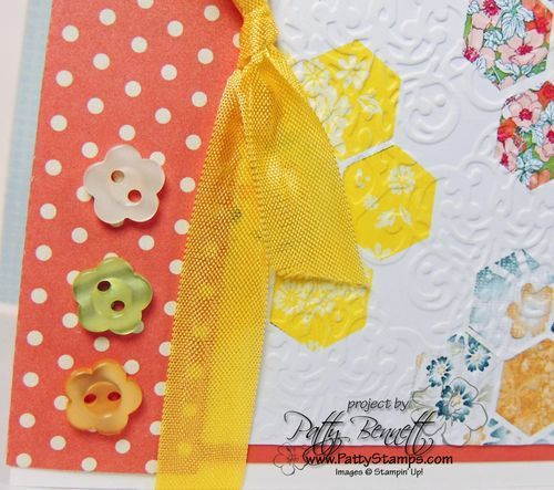 Love adding buttons to my Stampin Up cards!  I will miss you little flower buttons!