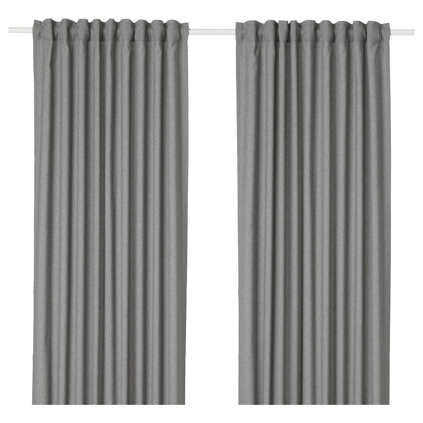 Hannalena Room Darkening Curtains 1 Pair Gray Room Darkening