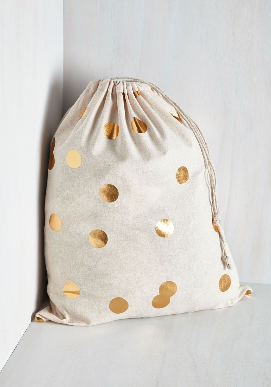 pizzazz good as gold laundry bag. make a stellar statement in your