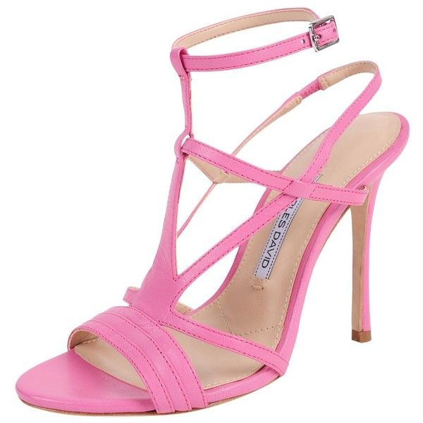 Charles David Onia (£155) ❤ liked on Polyvore featuring shoes, pink, leather sole shoes, pink shoes, pink leather shoes, charles david i charles david shoes