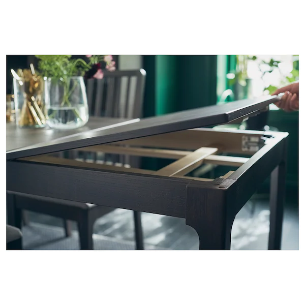 ekedalen table extensible brun fonce