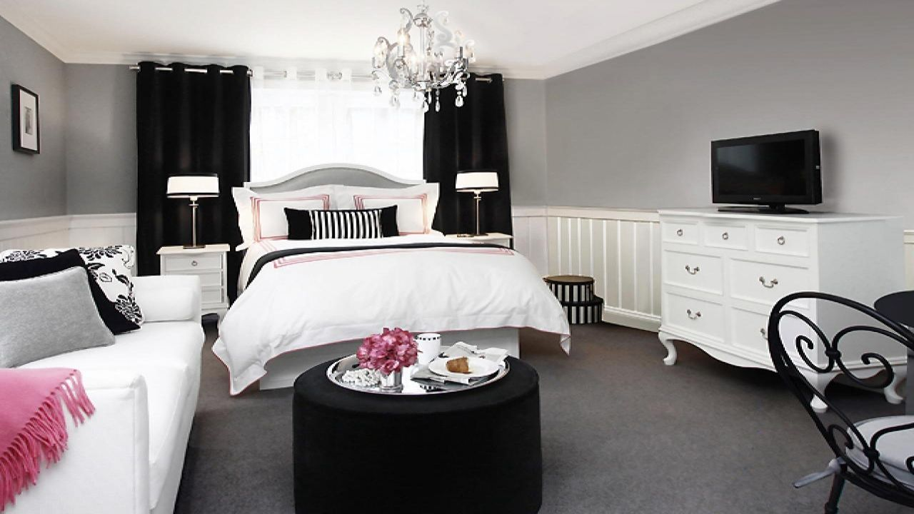 Small Bedroom Ideas Pink Black White Bedrooms For S