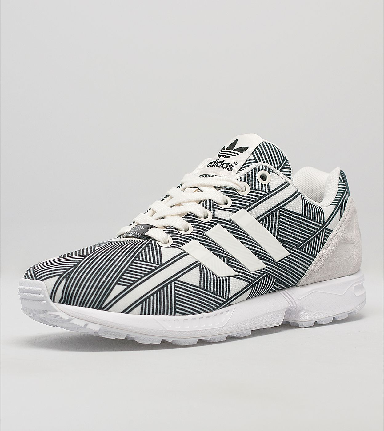 womens adidas black & white zx flux butterfly trainers nz