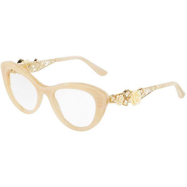 Dolce & Gabbana Flowers Lace Cat-Eye Optical Frames (€390) ❤ liked ...