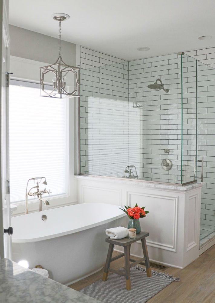 90s Bathroom Remodel Small Master Bathroom Farmhouse Master