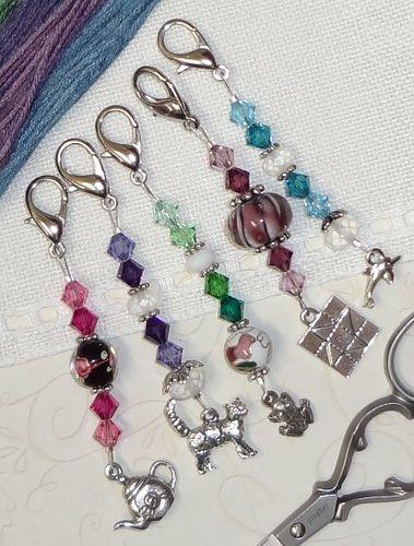 Starfish Needle Minder Keychain Magnetic Cross Stitch Accessory Scissor Fob Zipper Pull Floss Ring