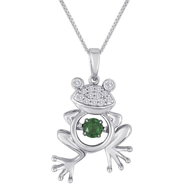Love in motion lab created emerald and white sapphire frog pendant love in motion lab created emerald and white sapphire frog pendant mozeypictures Image collections