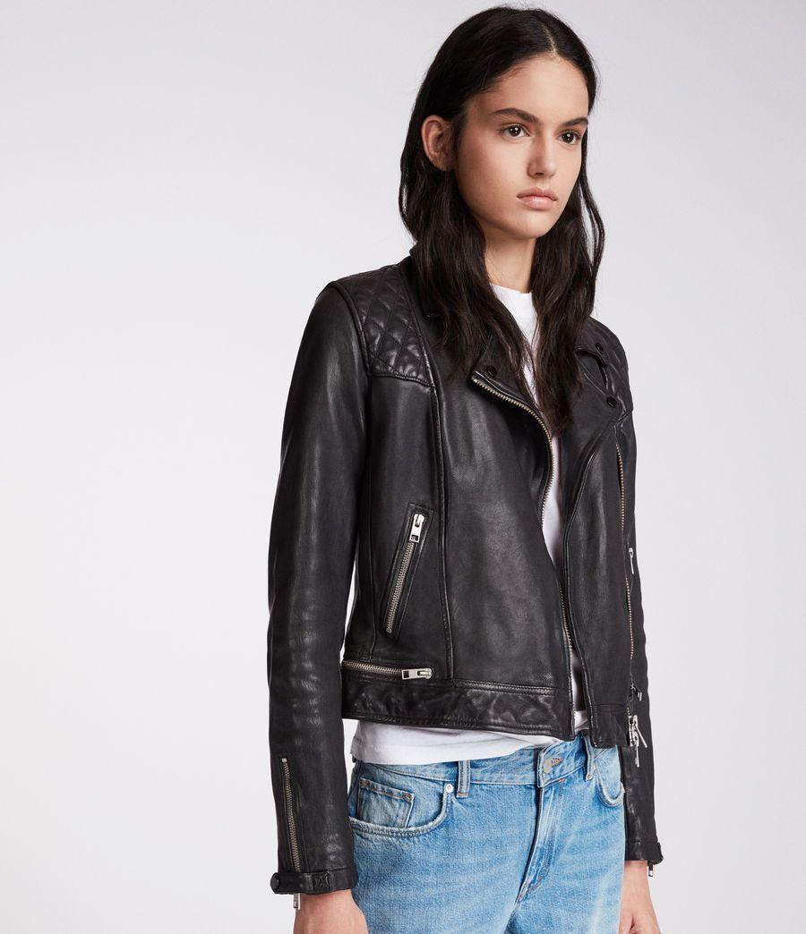 Womens Conroy Leather Biker Jacket Ink Celebrities Leather Jacket Leather Outerwear Red Suede Jacket [ 1044 x 900 Pixel ]