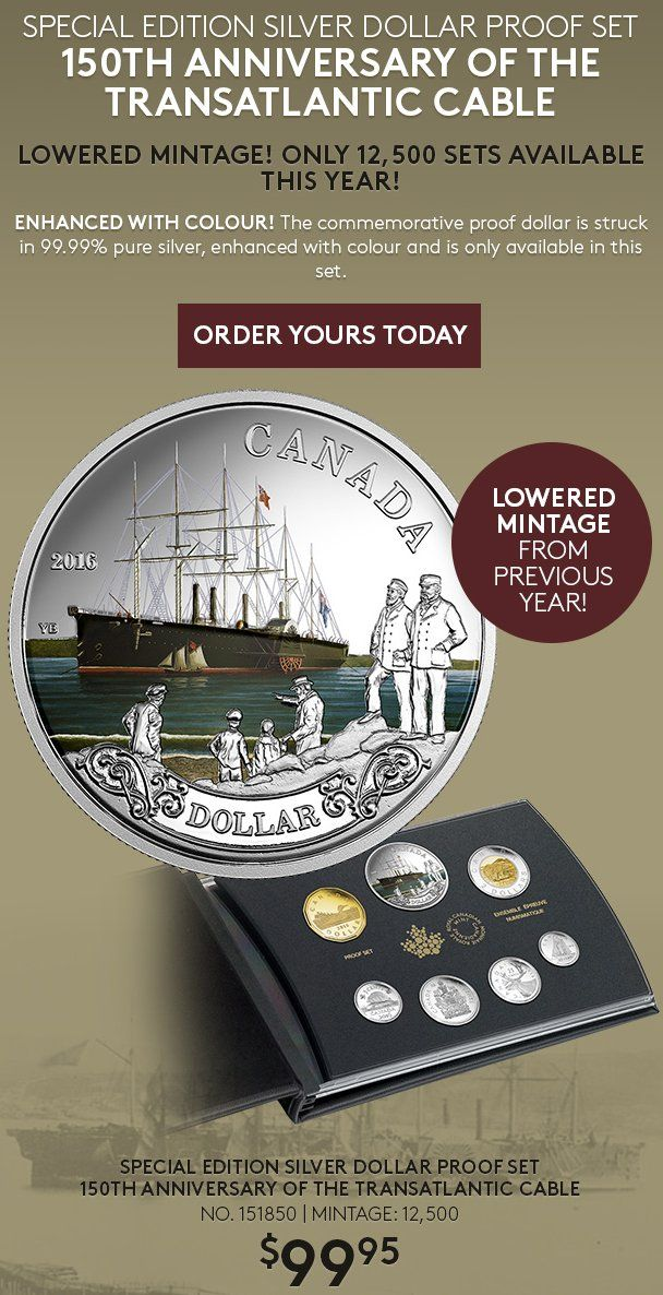 Lowered Mintage! Only 12,500 Proof Sets - 150th Anniversary of the Transatlantic Cable - Coin Community Forum