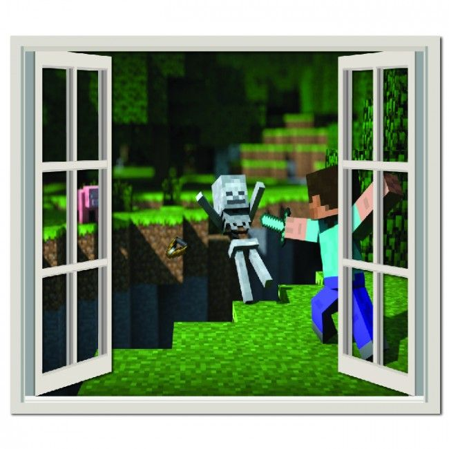 Awesome Minecraft Battle Wall Sticker Window Wall Decal Part 13