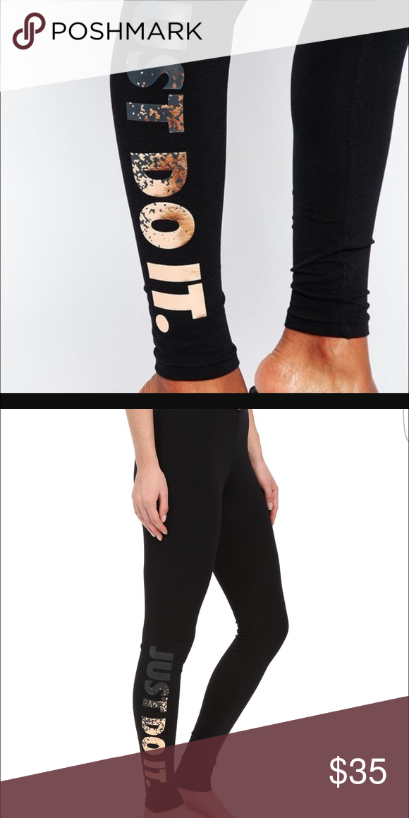 817508a22404e Nike Leg a see leggings New Metallic Rose Gold Nike Leggings Nike Pants  Leggings