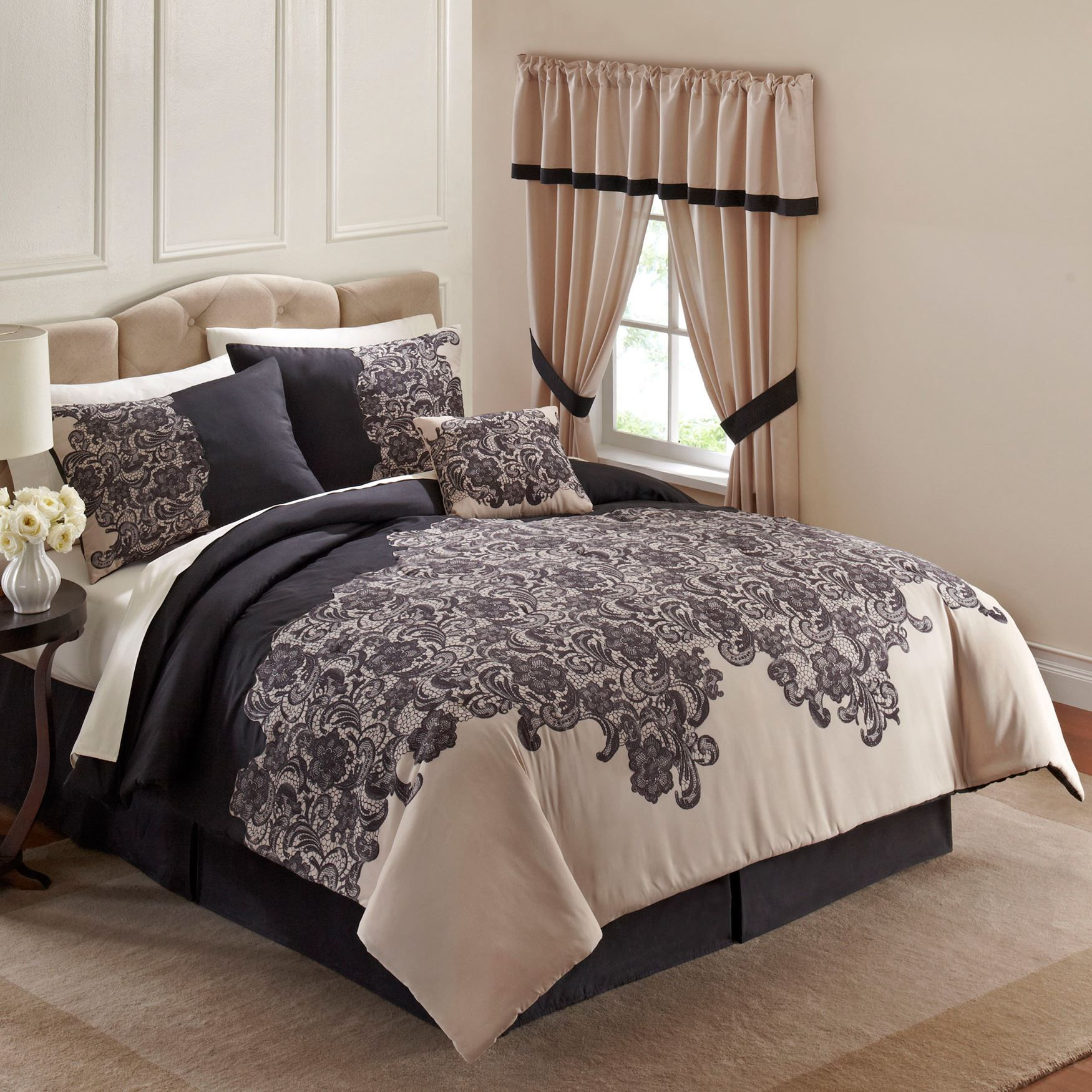 This Beautifully Detailed 160 Comforter Set 160 Brings A New