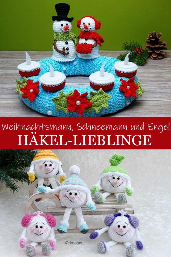 Photo of Häkeln Sie Favoriten: Weihnachtsmann, Schneemann und Engel